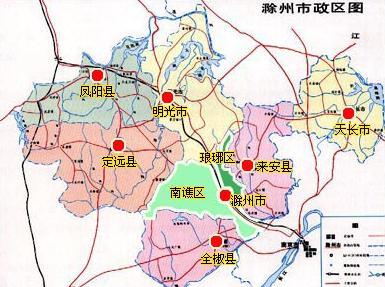 滁州风景区地图